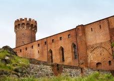 Teutonic Schloss in Polen (Swiecie) Stockbilder