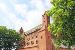 Teutonic slott för 14th århundrade i Gniew Royaltyfria Foton