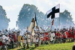 Teutonic troops at Grunwald royalty free stock photo