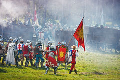 Teutons under attack Royalty Free Stock Images