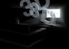 Tevê 3d Home Imagens de Stock Royalty Free