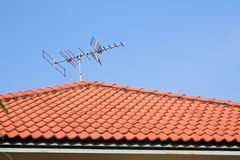 Tevê da antena Imagem de Stock Royalty Free