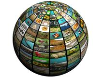 Tevê da esfera Foto de Stock Royalty Free