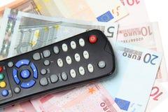Tevê de controle remoto Foto de Stock