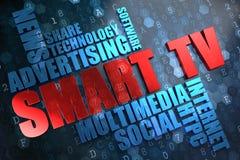Tevê de Smart.  Conceito de Wordcloud. foto de stock royalty free