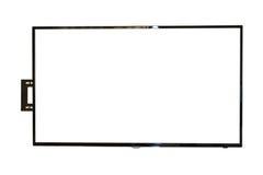 Tevê do diodo emissor de luz, a instalação da parede, isolada no fundo branco imagem de stock