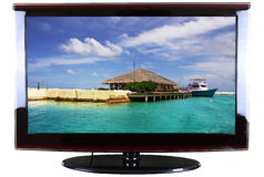 TEVÊ DO LCD Imagens de Stock