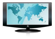 TEVÊ DO LCD ilustração stock