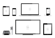 Tevê do Mac de iPod do iphone do ipad de Apple mini ilustração stock