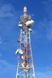 Tevê e antena de rádio Fotografia de Stock Royalty Free