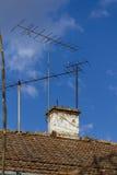 Tevê e antena de rádio Foto de Stock