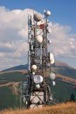 Tevê da antena e rádio fotografia de stock royalty free