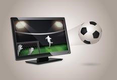 Tevê mágica do futebol Foto de Stock