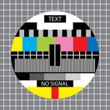 Tevê nenhum monoscope do sinal ilustração do vetor