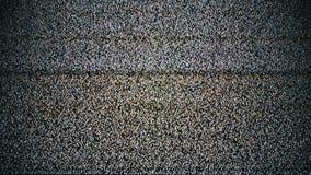 Tevê real Noize do analógico Tevê nenhum sinal, ruído branco vídeos de arquivo