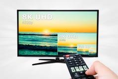 Tevê ultra HD televisão de 8K 4320p Fotografia de Stock Royalty Free