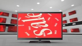 Tevês do tela plano na venda video estoque