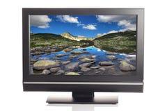 TEVÊ DO LCD Foto de Stock Royalty Free