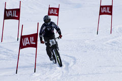 Teva Dual Slalom Bike. Winter TEVA Mointain Games 2012 in Vail, Colorado Stock Photography