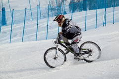 Teva Dual Slalom Bike. Vail, Colorado-February 2012: 2012 Winter TEVA Mointain Games Royalty Free Stock Photography