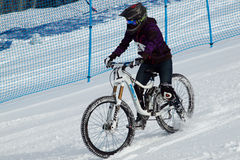 Teva Dual Slalom Bike. Vail, Colorado-February 2012: 2012 Winter TEVA Mointain Games Stock Image