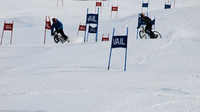 Teva Dual Slalom Bike. Vail, Colorado-February 2012: 2012 Winter TEVA Mointain Games Royalty Free Stock Photo