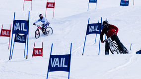 Teva Dual Slalom Bike. Vail, Colorado-February 2012: 2012 Winter TEVA Mointain Games Stock Photos