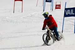 Teva Dual Slalom Bike. Vail, Colorado-February 2012: 2012 Winter TEVA Mointain Games Stock Images