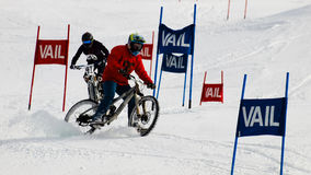Teva Dual Slalom Bike. Vail, Colorado-February 2012: 2012 Winter TEVA Mointain Games Stock Photography