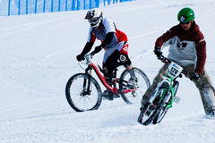 Teva Dual Slalom Bike. Vail, Colorado-February 2012: 2012 Winter TEVA Mointain Games Royalty Free Stock Images