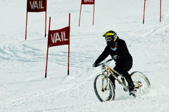 Teva Dual Slalom Bike. Vail, Colorado-February 2012: 2012 Winter TEVA Mointain Games Royalty Free Stock Photos