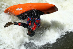 Teva Mt. Games 2011 - Freestyle Kayaking Royalty Free Stock Photos