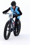 Teva no critério da bicicleta da neve Imagens de Stock Royalty Free