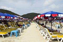 Teve o console Pattaya Tailândia de Larn do Koh da praia de Tien Imagem de Stock