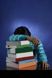 Teveel boeken aan studie Stock Fotografie