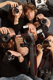 Teveel fotografen Stock Afbeeldingen