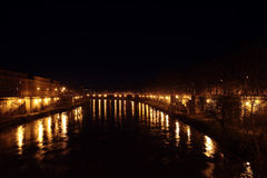 Tevere at Night Royalty Free Stock Image