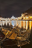 Tevere river of rome Royalty Free Stock Images