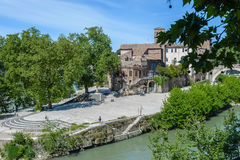 Tevere in Rome, Italy. A view of tevere in Rome, Italy Royalty Free Stock Images