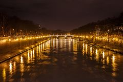 Tevere  Tiber  River. In Rome , Roma Italy during day Stock Image
