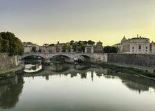 Tevererivier in Rome Stock Foto's