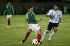 Tevez watching. Carlos Tevez is one of the best attackers of the Argentina's soccer team royalty free stock photography