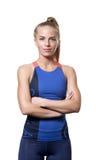 Tevreden Blauw eyed blond meisje Stock Fotografie