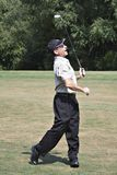 Tevreden Golfspeler royalty-vrije stock foto