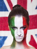 Tevreden Italiaanse verdediger voor FIFA 2014 tijdens Italië VERSUS Englan Stock Foto's