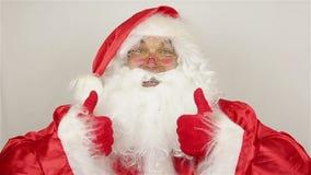 Tevreden Santa Claus stock videobeelden