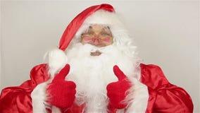 Tevreden Santa Claus stock footage