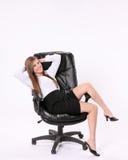 Tevreden Secretaresse Stock Foto's