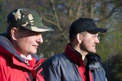 Tevreden vissers Royalty-vrije Stock Foto's