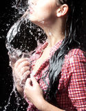 Tevredenheid van dorst Stock Fotografie